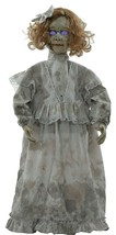 32-in Spooky Talking CRACKED VICTORIAN HAUNTED DOLL Poseable Arms Hallow... - $56.78