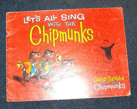Let's All Sing With The Chipmunks 1958 hansen monarch david seville's ch... - $22.00