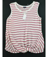 Neu Splendid Damen Top Hemd Bluse Weste RS0331X Weiß Rot L Msrp - $36.71