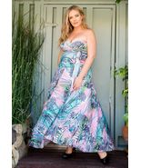SWAK Designs Eternity Blue Pink Amore Maxi Wrap Dress, Sexy Plus Size - €73,73 EUR