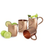 Moscow Mule Copper Mugs Set of 4 - 16 Ounce with Beer Wine Vodka mug Bar... - $50.92