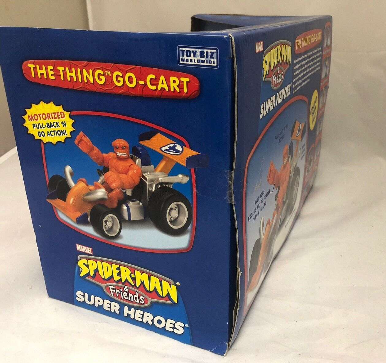 Marvel Spider-Man & Friends The Thing You Go- Cart Motorized Pull Back Go Action image 5