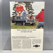 Vintage Magazine Ad Print Design Advertising Chevrolet Station Wagons - $12.86