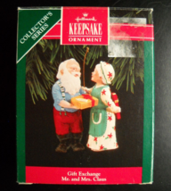 Hallmark Keepsake Christmas Ornament 1992 Gift Exchange 7th in Mr Mrs Se... - $6.99