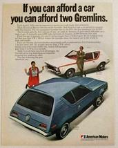 1970 Print Ad American Motors Gremlin 2 Passenger Blue & White 4 Passeng... - $14.13