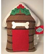 Pret a Paw Pet Pillow Dog Lover House Mistletoe Christmas Throw Pillow Gift New - $24.74