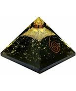 Black Tourmaline Orgone Pyramid, Crystal Point, Pyramid for Gift, Healin... - $107.32