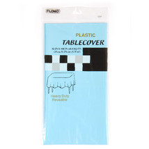 """54"""" x 108"""" Pastel Blue Rectangular Table Cover, Case of 36 - $76.12"""
