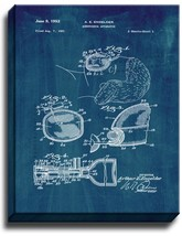 Anesthesia Apparatus Patent Print Midnight Blue on Canvas - $39.95+