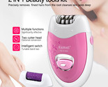 Women Rechargeable Electric Shave lady's Epilator Grinding Feet Device Bikini Tr