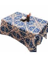 Panda Superstore Creative Blue Lotus Cotton Tablecloth/Tea Table Clothes - $30.63