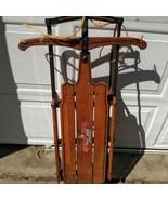 Antique FLEXIBLE FLYER SLA Co. Made USA No 2e Snow Sled Wood Winter Clea... - $222.75