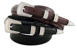 """S5561 - Western Genuine Leather Ranger Belt 1-3/8"""" Tapers to 3/4"""" Wide - $29.65"""