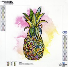 "Leisure Arts Diamond Art Intermediate Kit 12""X12""-Pineapple - $16.40"