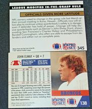 John Elway #7 Denver Broncos and Dan Reeves Trading Cards AA-19FTC3005a Vintage image 9