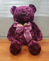 "Dan Dee Collectors Choice Velvet Merlot Teddy Bear 15"" **VERY RARE** - $38.65"