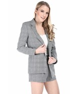 Salt Tree Women's Hounds-tooth Double Breasted Button Front Blazer US Se... - $36.99