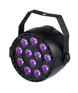 LED Stage Light Sound Active 12 LED Auto DMX Ultraviolet Strobe Par Blac... - $49.39