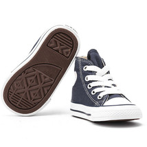 Converse All Star Chuck HI 7J233 Canvas Navy Kids Baby Toddler Shoes image 2