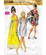 1970 Misses' PRINCESS STYLE DRESS & SHAWL Pattern 8738-s Size 12 - $9.99