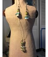 Fused Glass Pendant & Earring set - $65.00