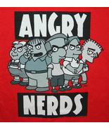 The Simpsons, Kids Angry Nerds Humor Spoof T-Shirt, NEW UNWORN - $14.50