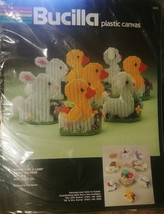 Bucilla Plastic Canvas Easter Bunny Chick Candy Holders Needlepoint Kit 5970 - $21.18