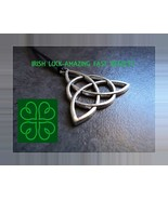 LUCK OF IRISH Great Luck Extreme Wealth Talisman Money PENDANT CELTIC WITCH - $60.00