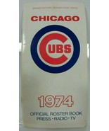1974 CHICAGO CUBS MEDIA GUIDE Program Baseball Press Book Yearbook Magazine - $11.84
