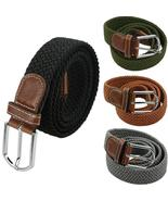 male military belt Top quality 3.5 cm wide Woven Stretch Braided Elastic... - $24.50