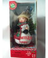 SNOWMAN TOMMY Kelly Club Doll-2001,Mattel#50377/Asst#53924-I'm an Orname... - $16.82