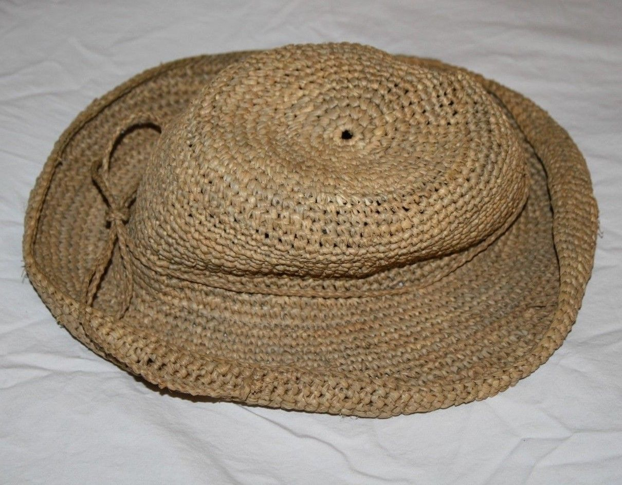 e8ef0b0358f01 The Scala Collection Womens Straw Hat Beach Sun Tea Natural Raffia Rolled  Brim
