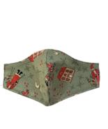 Nordic Face Mask Santa Christmas Primitive Folk Art Cotton Reversible Ha... - $10.00