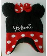 2T-5T Toddler Minnie Mouse Warm Winter Hat Pom Pom Ears & Polka Dot Bow ... - $3.95