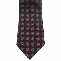 Ermenegildo Zegna 100% Silk Maroon Hand Made In Italy Men's Tie 56 X 3.7/8 Euc - $42.71