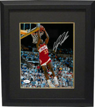 Dominique Wilkins signed Atlanta Hawks 8x10 Photo Custom Framed (reverse... - $94.95