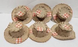 Thanksgiving Fall MINI Scarecrow Hats Crafts Bowl Filler Decor Set of 6 - $13.99