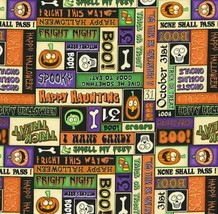 RJR Dan Morris A Haunting We Will Go Halloween 100% cotton Fabric by the... - $6.36