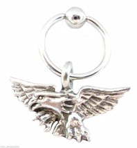 "Captive Nipple Ear Ring 14 Gauge 1/2"" w/America... - $7.95"
