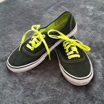 VANS Era Shoes Black Neon Green Pop Lace Mens Size 7 Womens Size 8.5 VN-... - $21.98