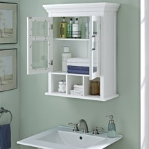 Two Door Bathroom Wall Cabinet White Home Decor... - $148.49