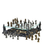 Dragon Chess Set with Elevated Glass Board - $195.99