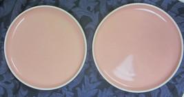 2 PRISMA RADIUS Made in Japan by VIGNELLI Designs CORAL  Bread plate Des... - $17.72