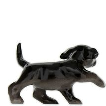 Hagen Renaker Dog Labrador Retriever Puppy Black Ceramic Figurine image 6