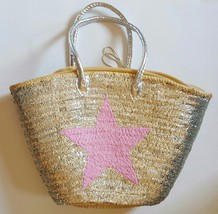 Sale Basket sequined with hot pink star