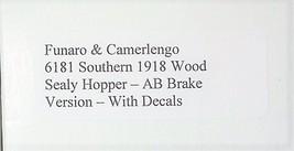 Funaro & Camerlengo HO Southern 1918 Wood Sealy Hopper AB brake, kit 6181 image 3