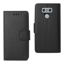 REIKO LG G6 3-IN-1 WALLET CASE IN BLACK - $12.99