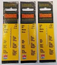 "Irwin Hanson 60504 1/16"" High Speed Steel Drill Bit 3 Packs (USA) - $2.97"