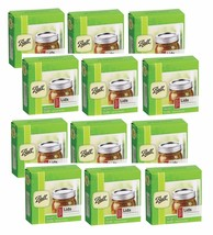 12 Box/12 BALL Regular Mouth Dome Lids For Mason Jars Canning Preserving... - $43.99
