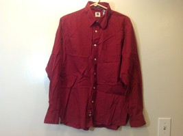 GAP Classic Fit Deep Red Long Sleeve Button Up Shirt Sz LG